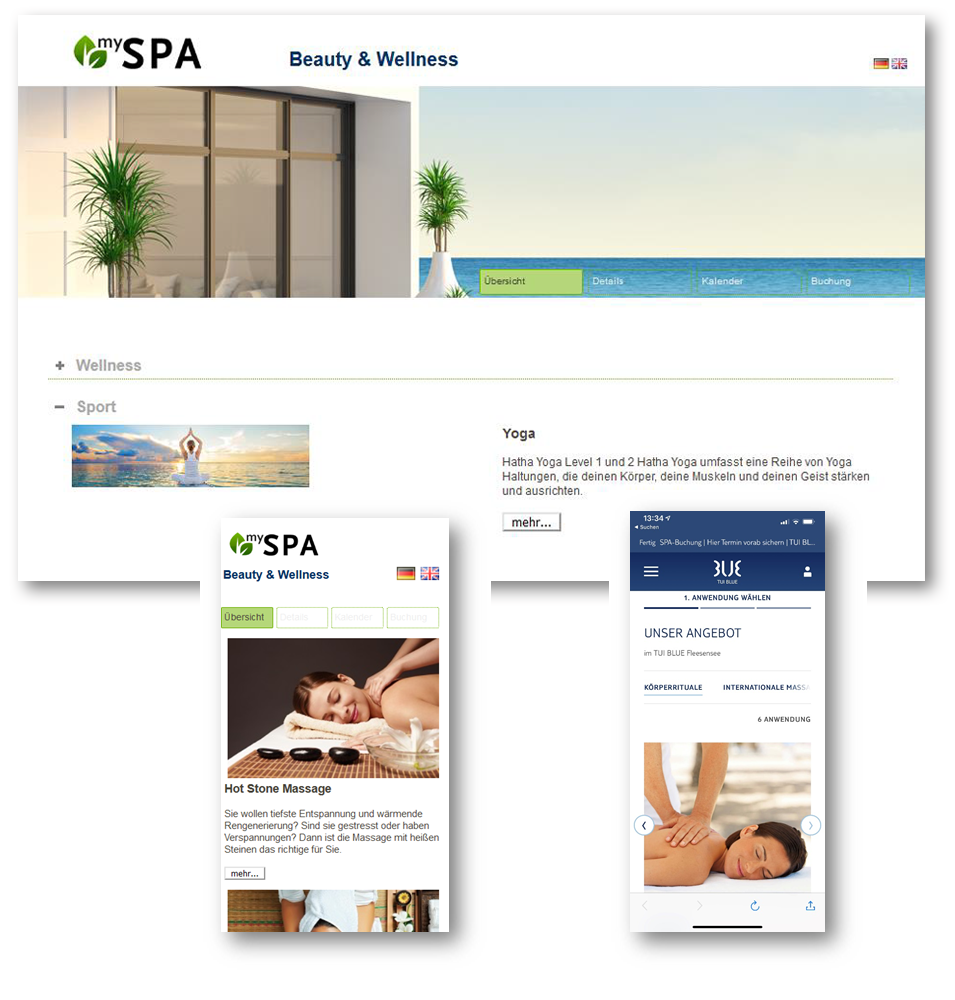 MY SPA Onlinebuchung